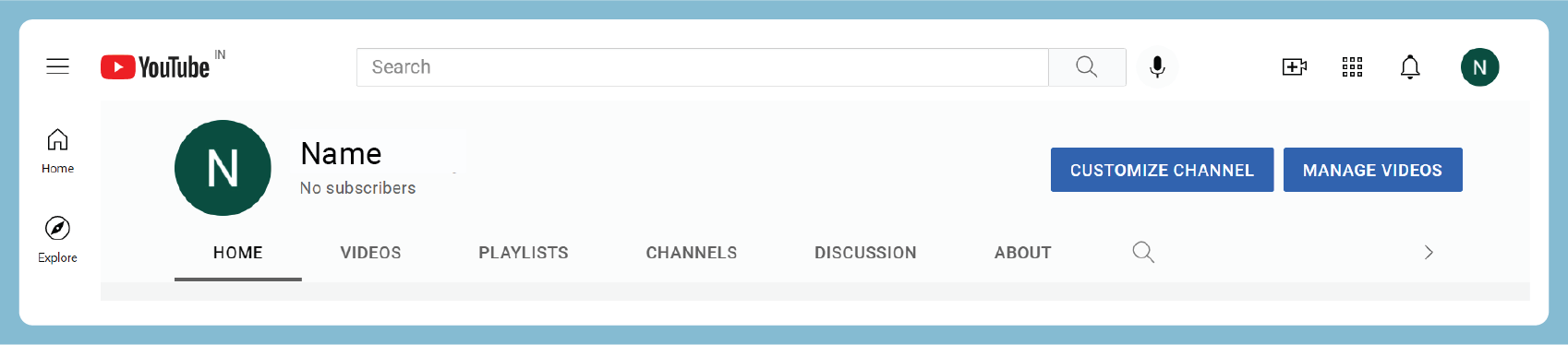 Customizin the YouTube channel