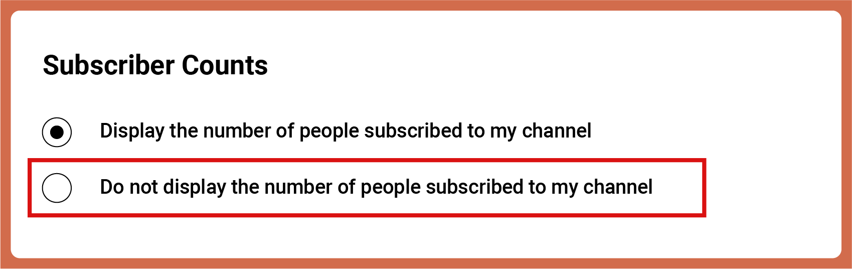 Subscriber counts