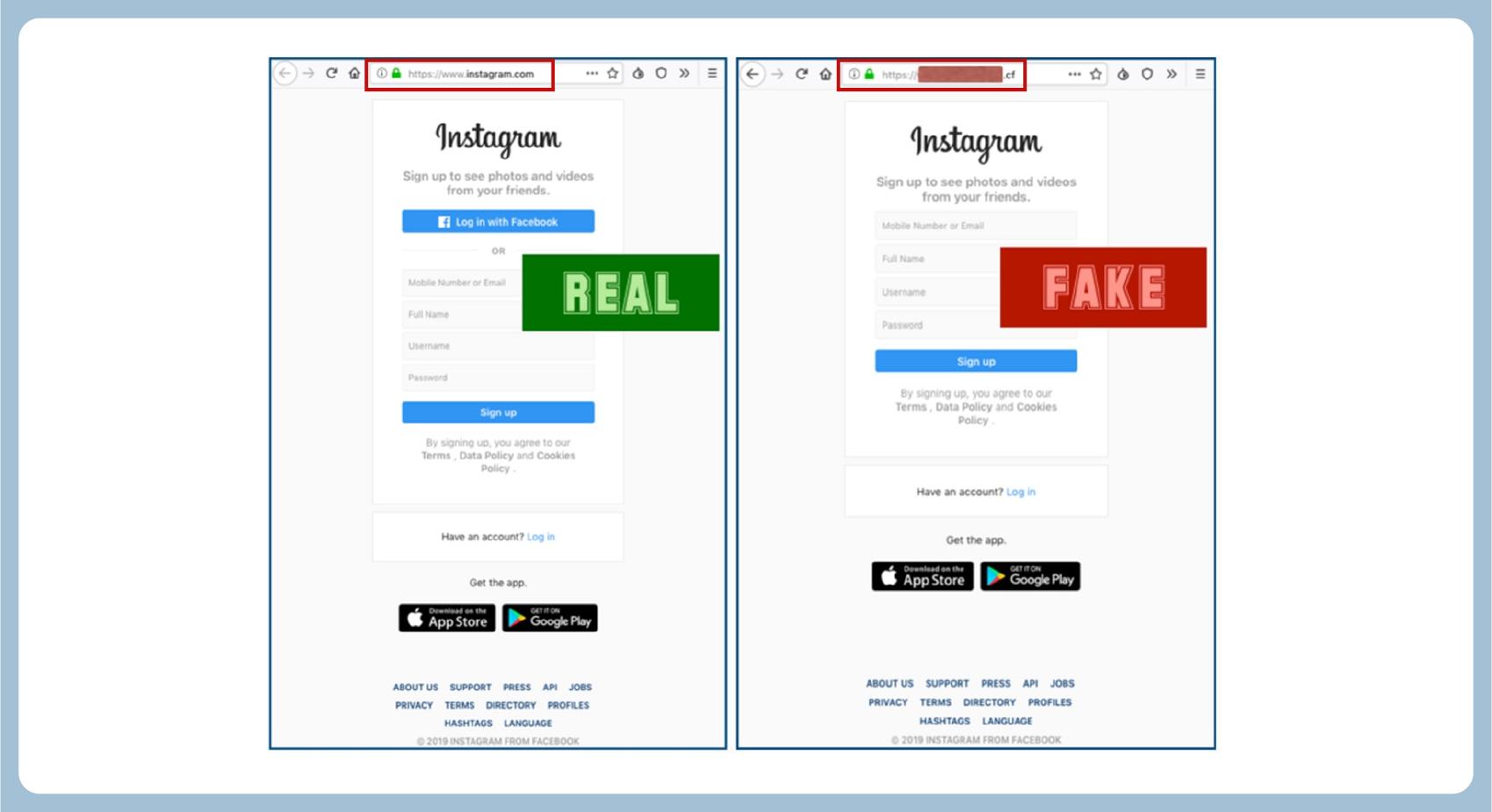 phishing url link