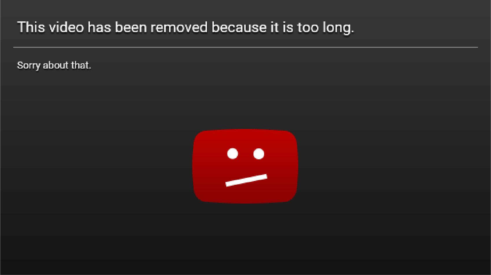 video reached maximum size limit